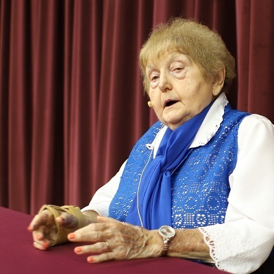 Students hear from a Holocaust survivor
